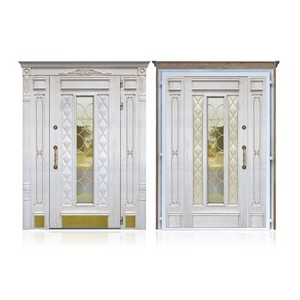Входные двери «Двустворчатая дверь 1» в Саратове